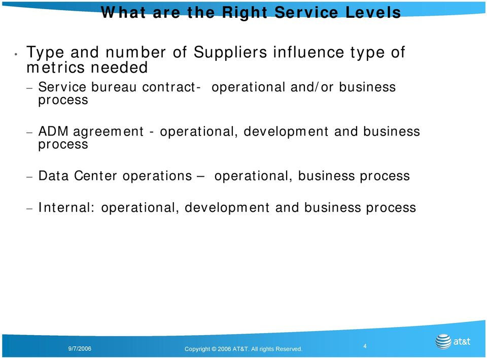 agreement - operational, development and business process Data Center operations