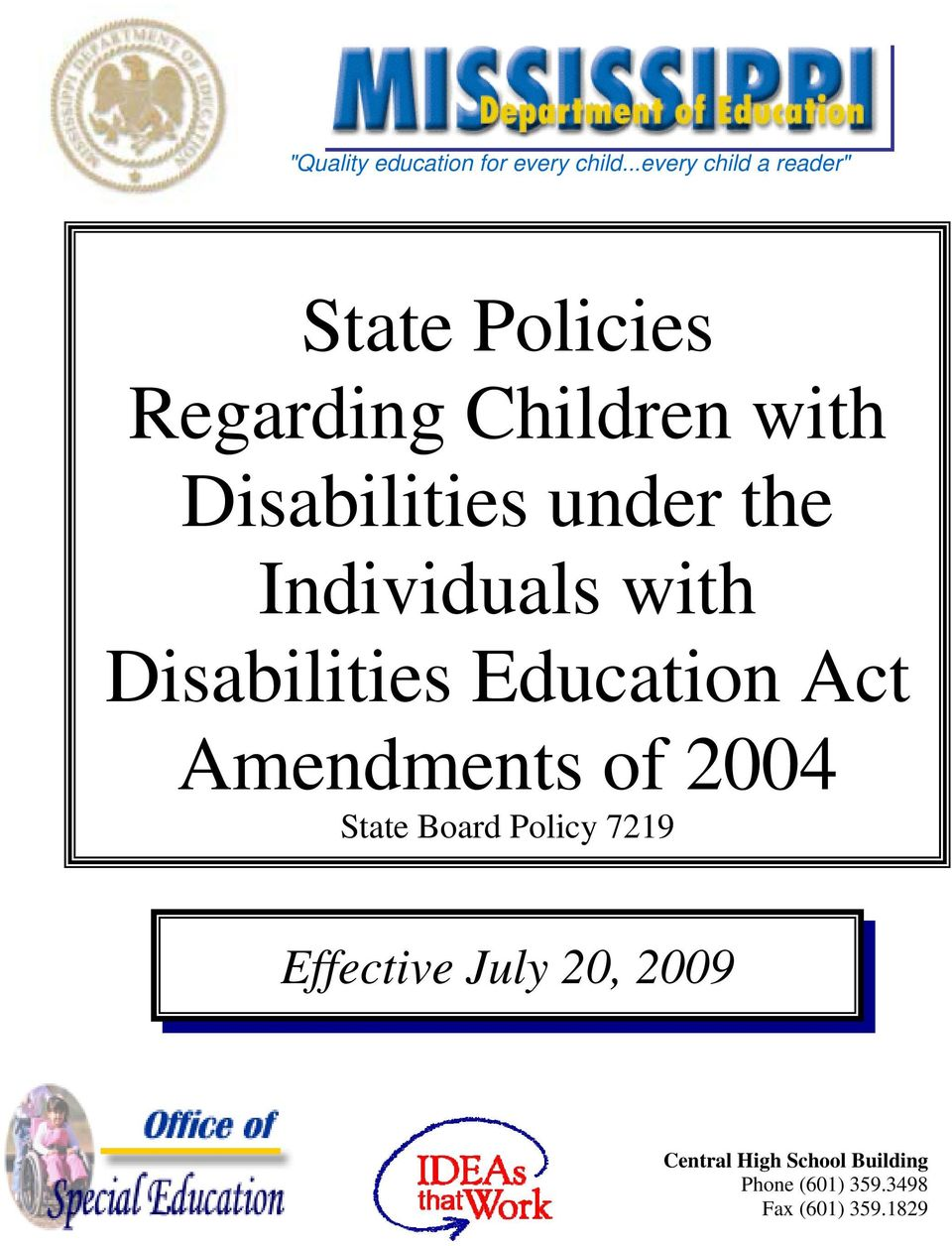Disabilities under the Individuals with Disabilities Education Act
