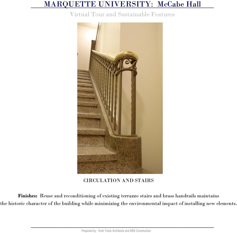 handrails maintains the historic character of the