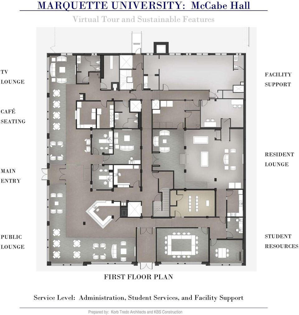 RESOURCES FIRST FLOOR PLAN Service Level:
