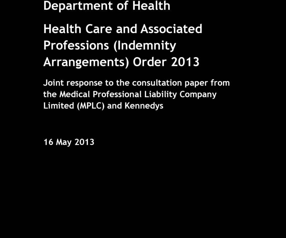 response to the consultation paper from the Medical