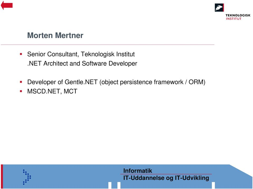 NET Architect and Software Developer