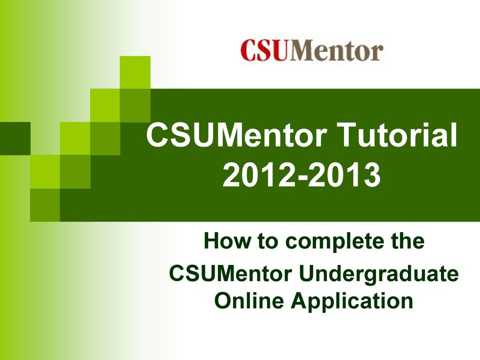 complete the CSUMentor