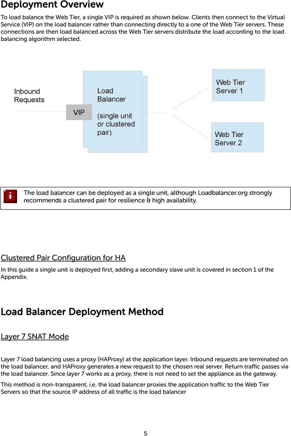 These connections are then load balanced across the Web Tier servers distribute the load according to the load balancing algorithm selected.