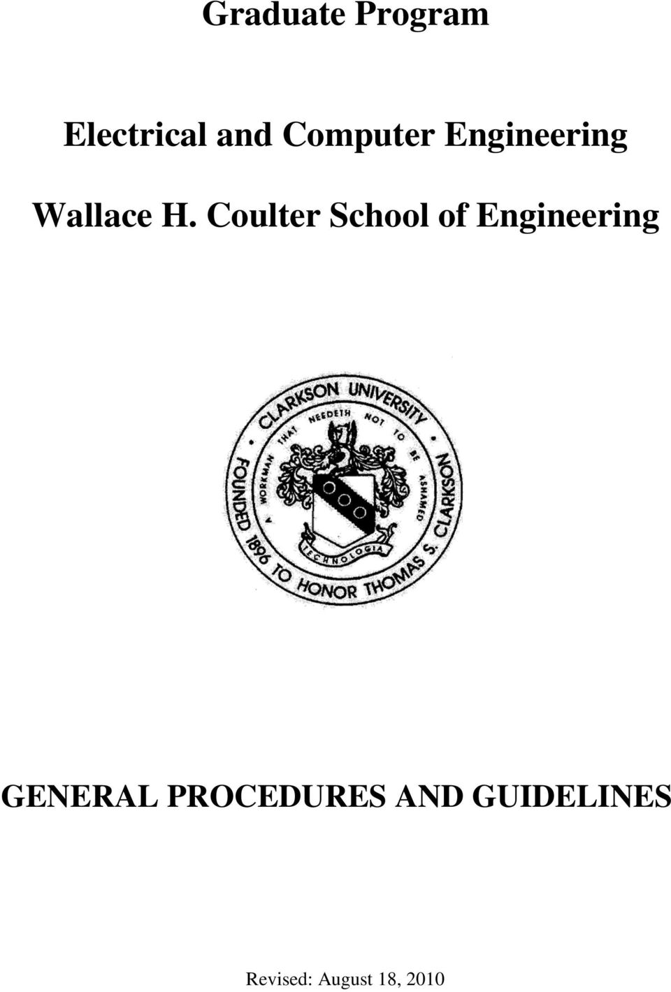 Coulter School of Engineering GENERAL