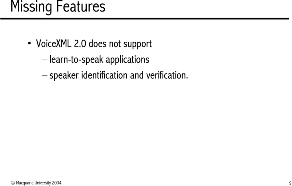 applications speaker identification
