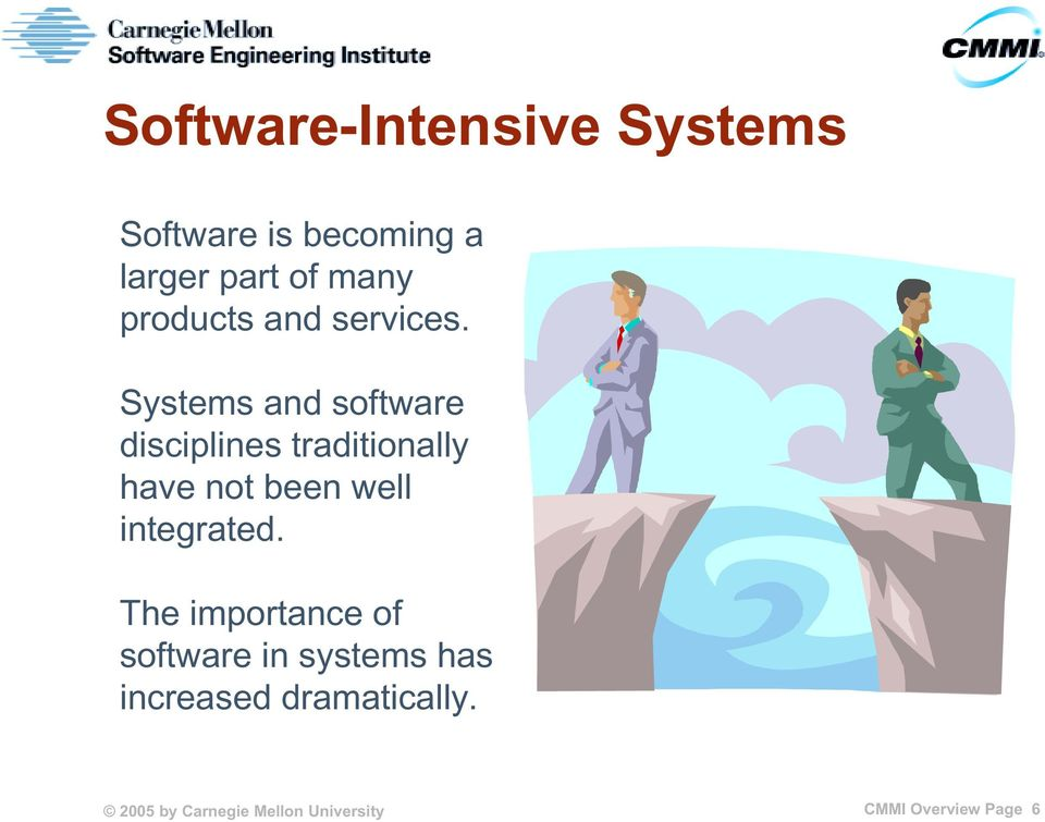 Systems and software disciplines traditionally have not been well