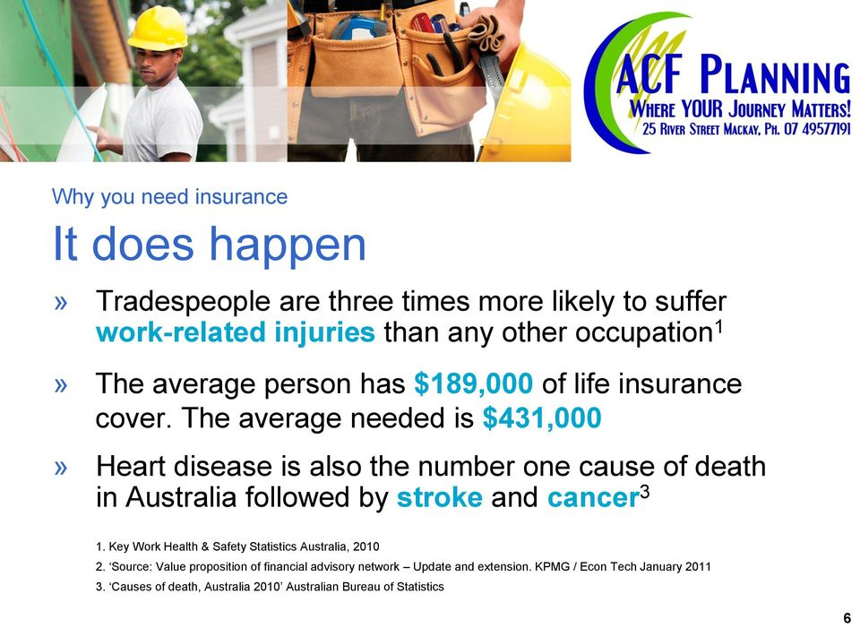 The average needed is $431,000» Heart disease is also the number one cause of death in Australia followed by stroke and cancer 3 1.