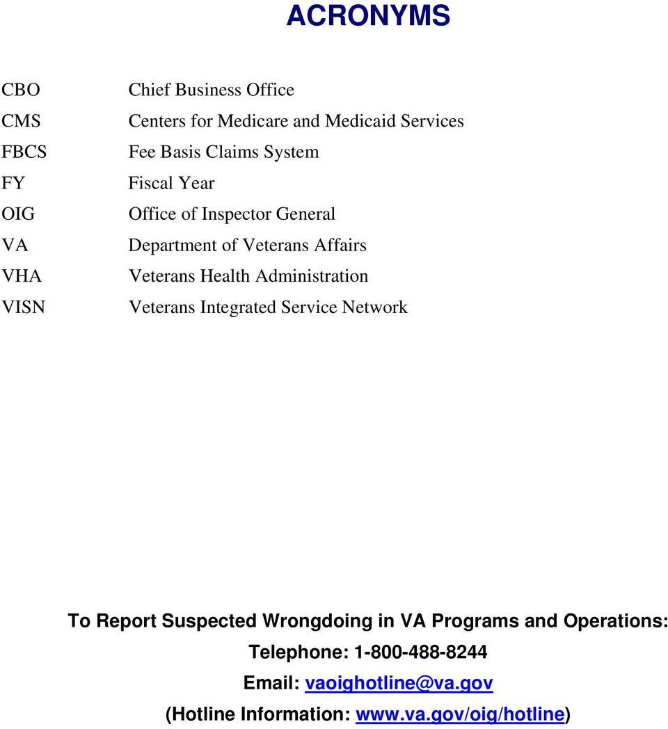 Health Administration Veterans Integrated Service Network To Report Suspected Wrongdoing in VA Programs