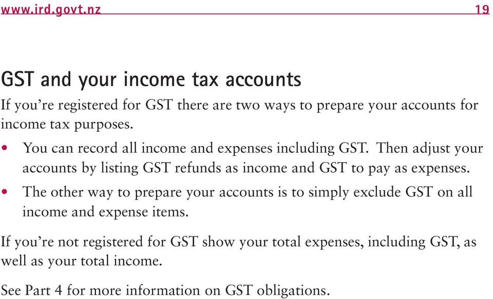 You can record all income and expenses including GST.