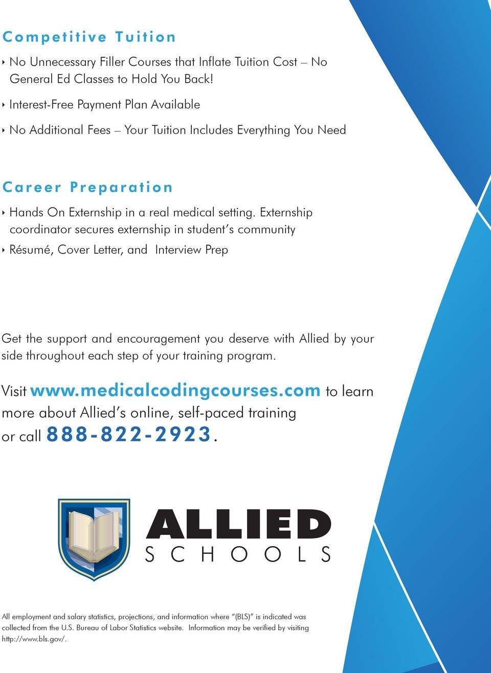 Externship coordinator secures externship in student s community Résumé, Cover Letter, and Interview Prep Get the support and encouragement you deserve with Allied by your side throughout each step