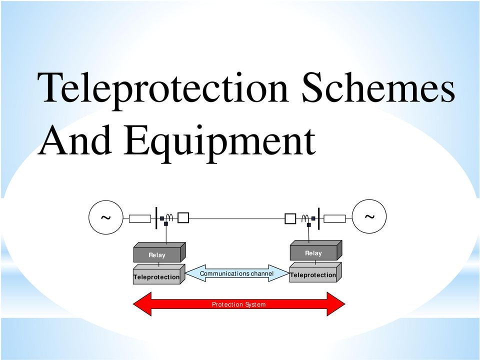 Teleprotection Communications