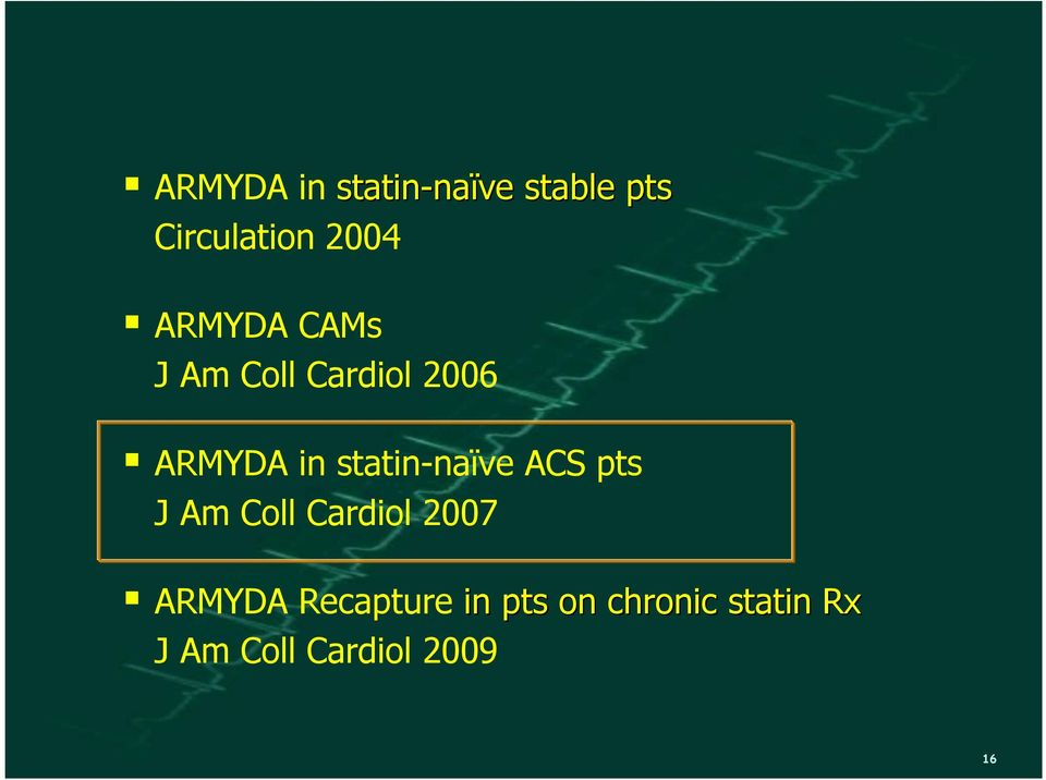 Am Coll Cardiol 2007 ARMYDA Recapture in pts on chronic