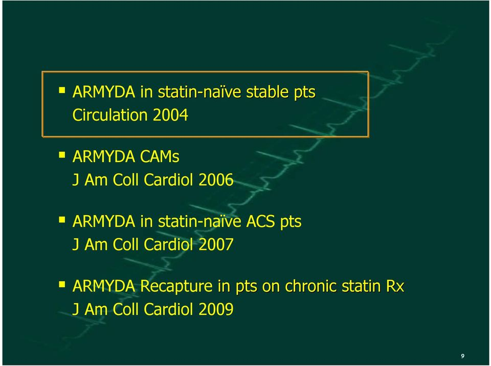 ACS pts J Am Coll Cardiol 2007 ARMYDA Recapture in pts on