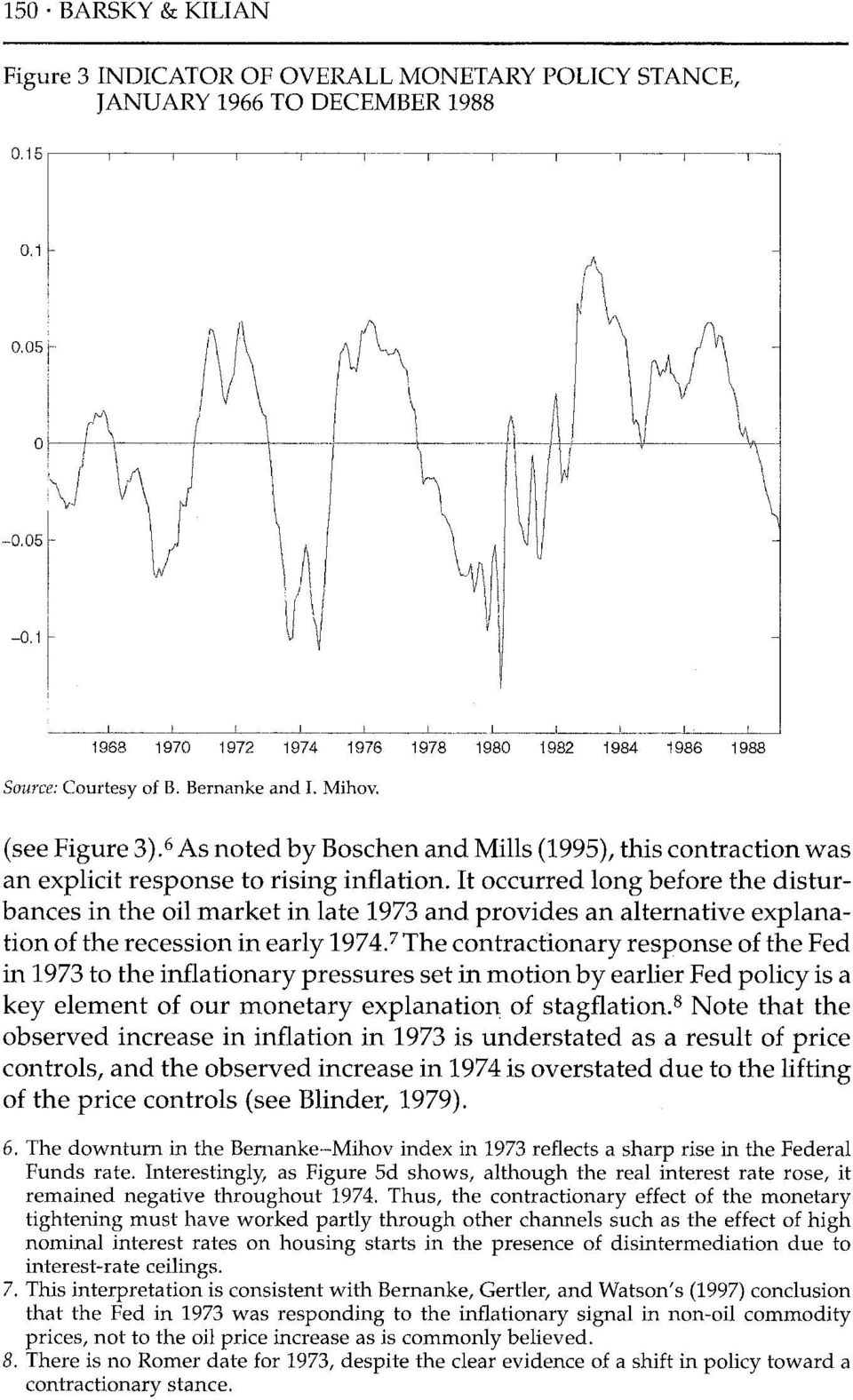 It occurred long before the disturbances in the oil market in late 1973 and provides an alternative explanation of the recession in early 1974.