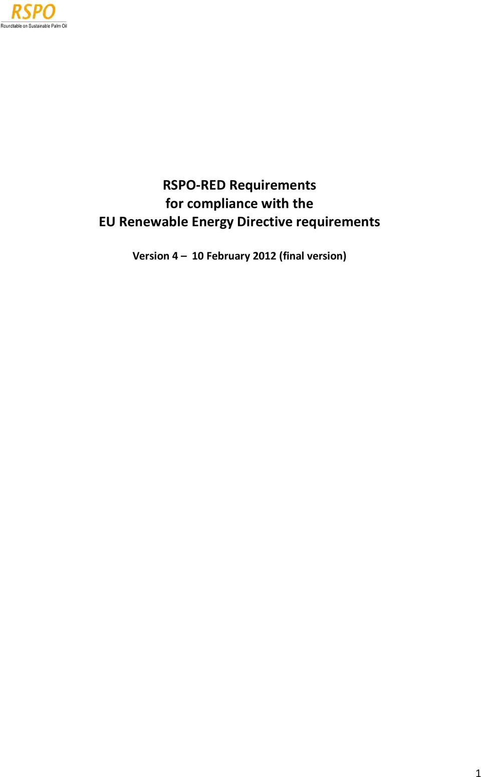 Energy Directive requirements