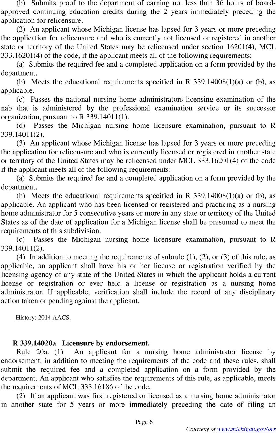 United States may be relicensed under section 16201(4), MCL 333.