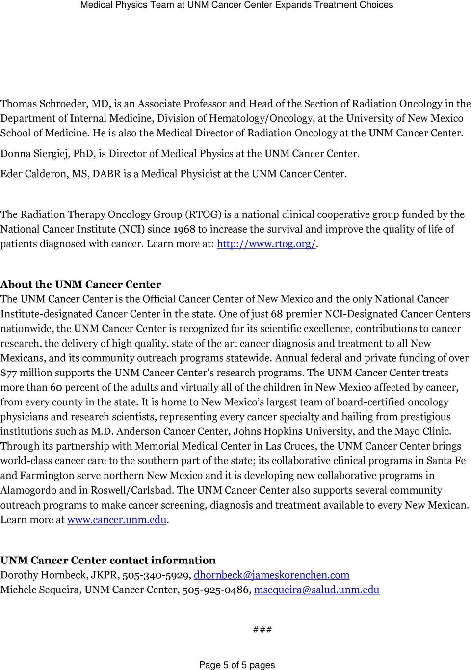 Eder Calderon, MS, DABR is a Medical Physicist at the UNM Cancer Center.