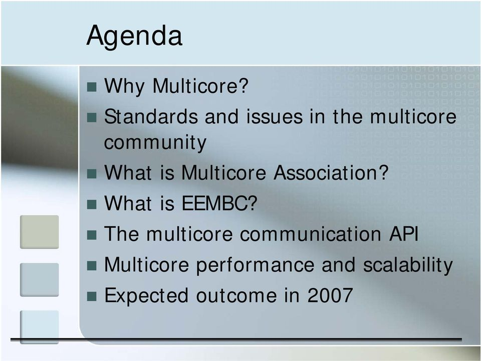 is Multicore Association? What is EEMBC?