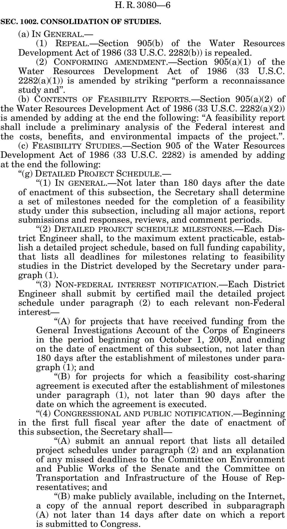 Section 905(a)(2) of the Water Resources Development Act of 1986 (33 U.S.C.