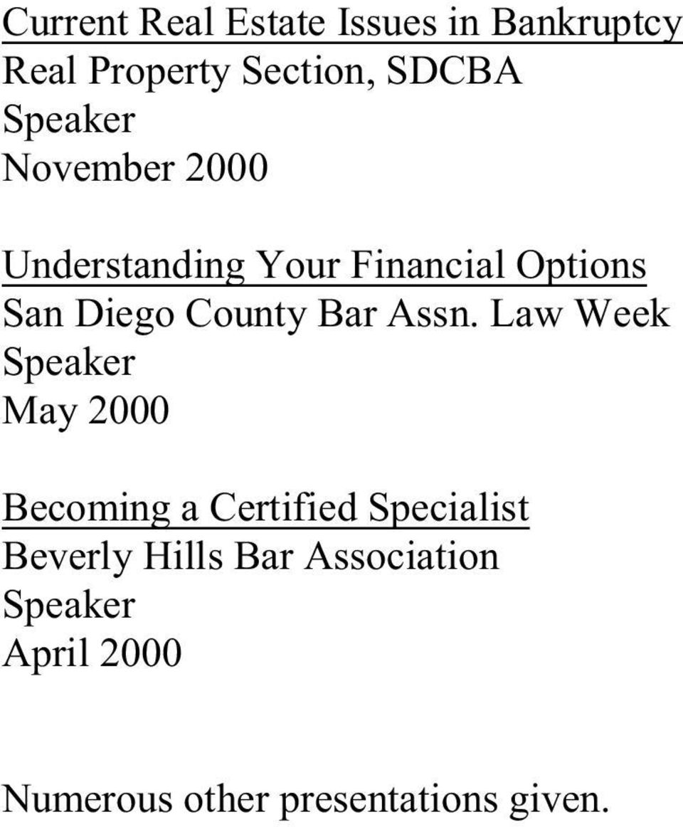 County Bar Assn.