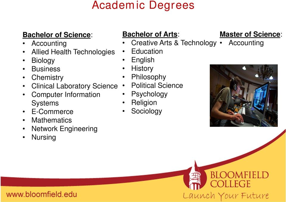 Network Engineering Nursing Bachelor of Arts: Creative Arts & Technology Education English