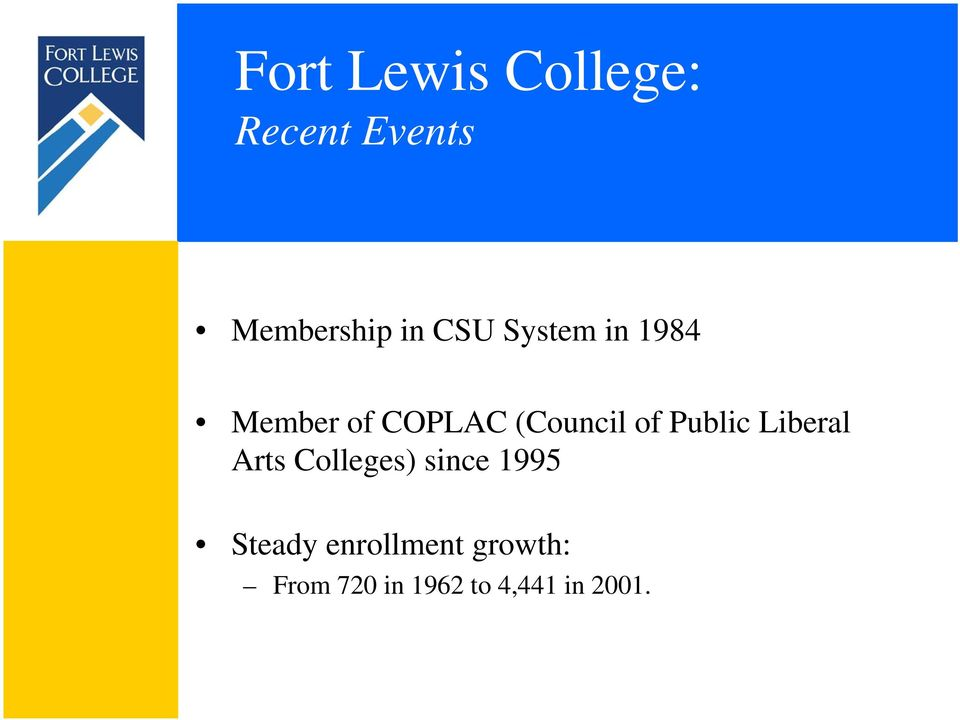Public Liberal Arts Colleges) since 1995 Steady
