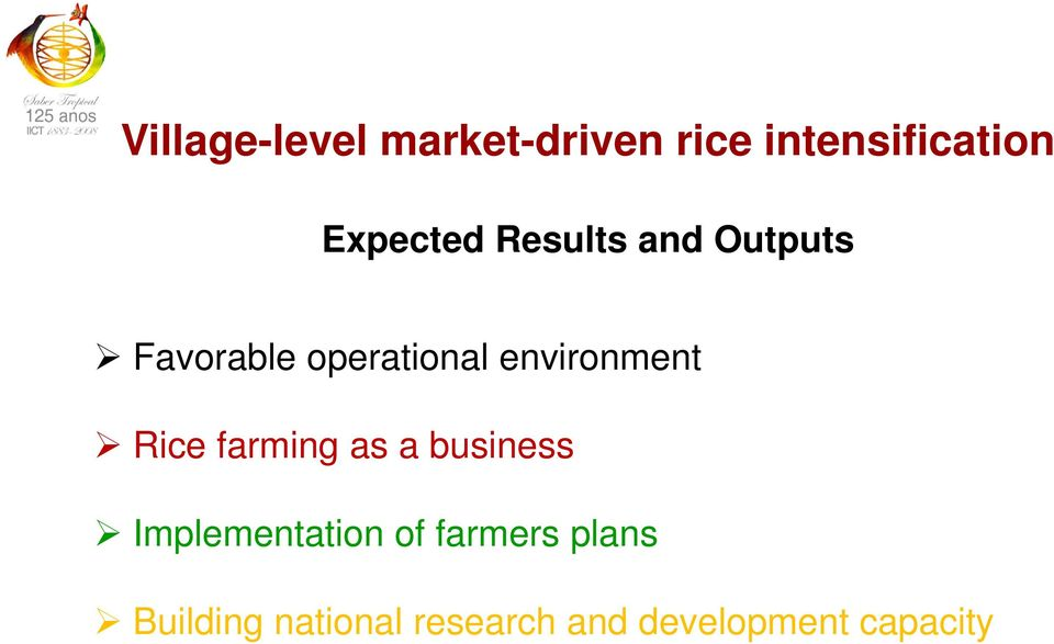 environment Rice farming as a business Implementation