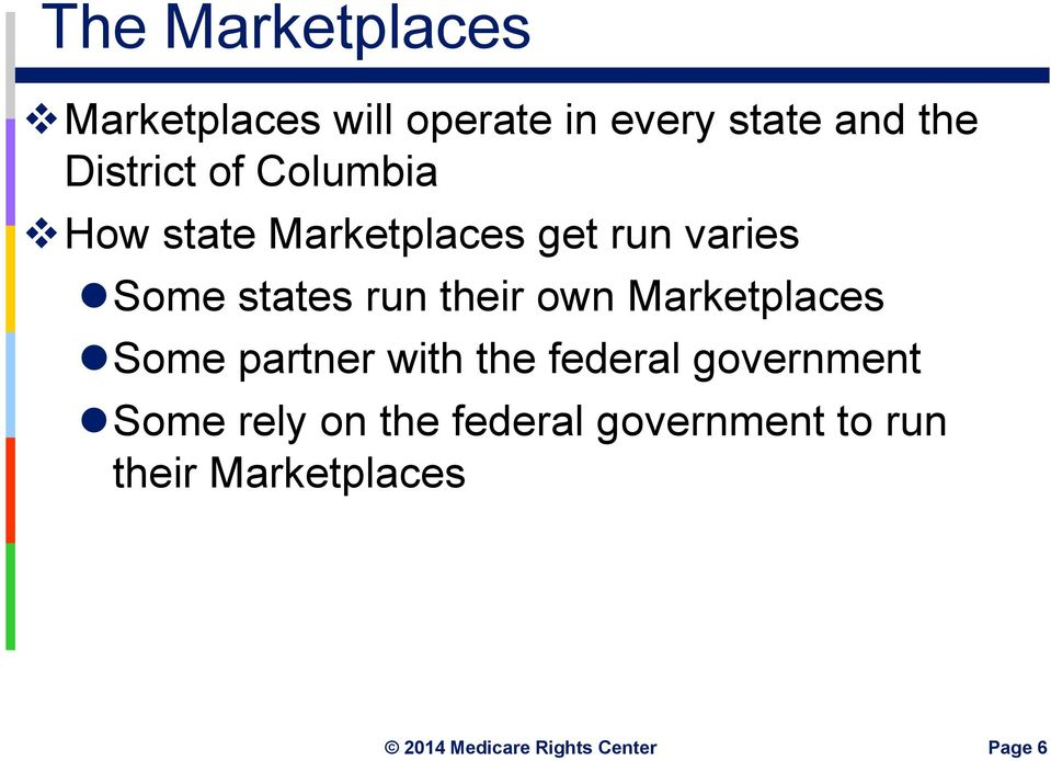 states run their own Marketplaces Some partner with the federal