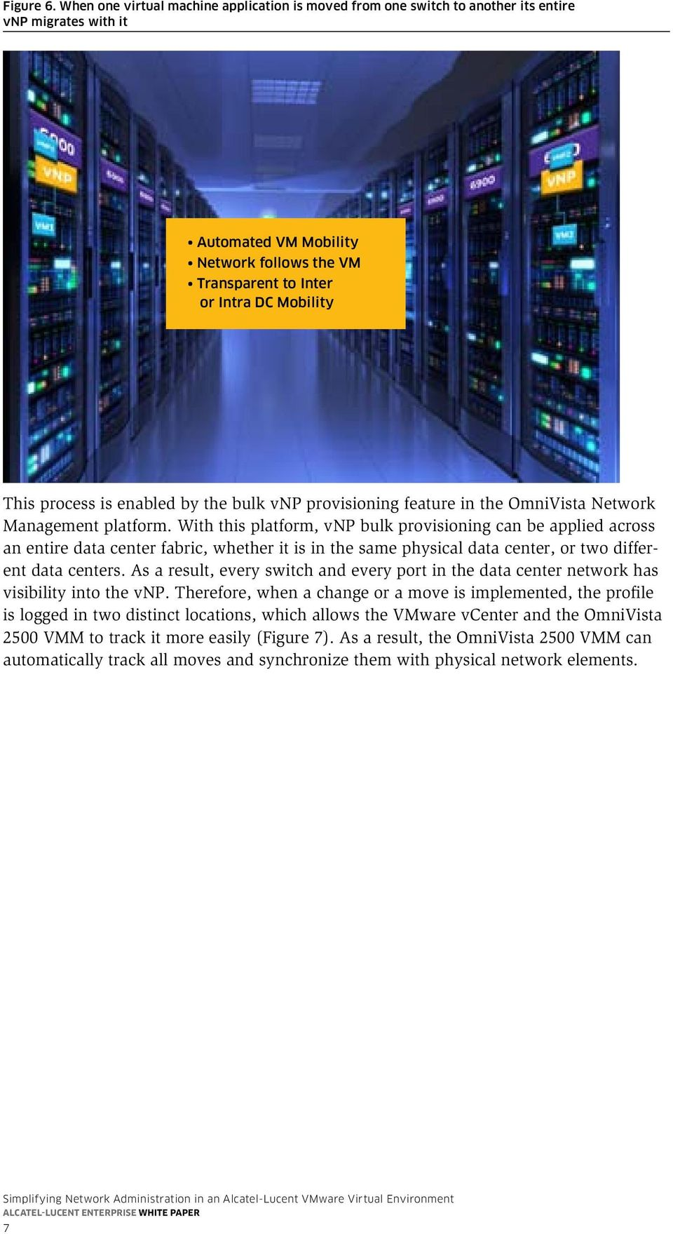 process is enabled by the bulk vnp provisioning feature in the OmniVista Network Management platform.