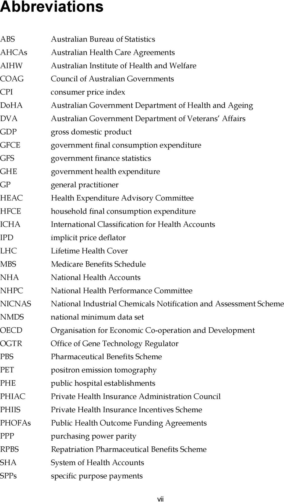 Australian Government Department of Veterans Affairs gross domestic product government final consumption expenditure government finance statistics government health expenditure general practitioner