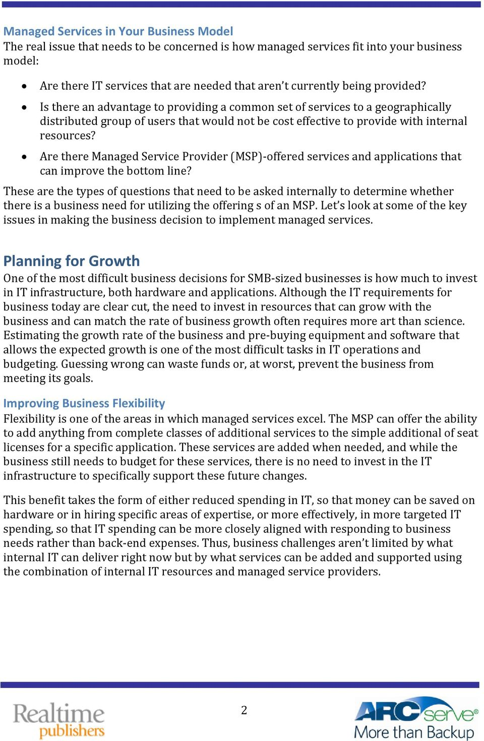 Are there Managed Service Provider (MSP) offered services and applications that can improve the bottom line?