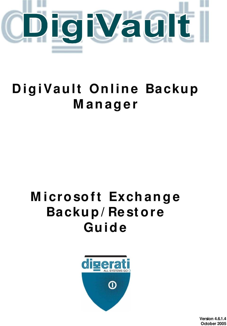 Exchange Backup/Restore