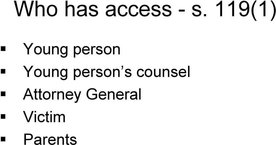 Young person s counsel