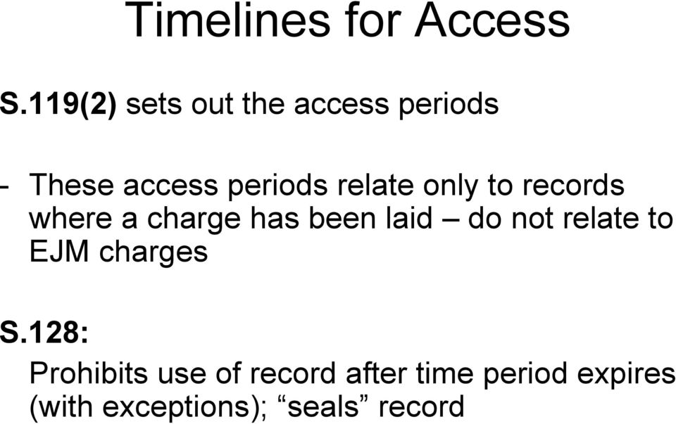 relate only to records where a charge has been laid do not