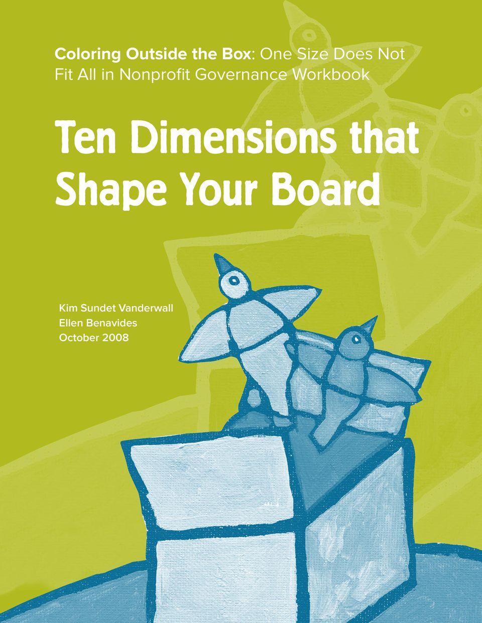 Workbook Ten Dimensions that Shape Your