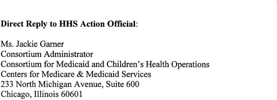Medicaid and Children's Health Operations Centers for