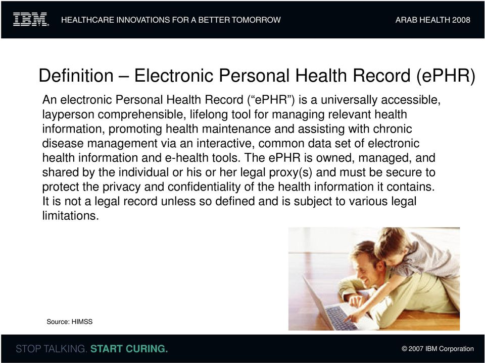 electronic health information and e-health tools.