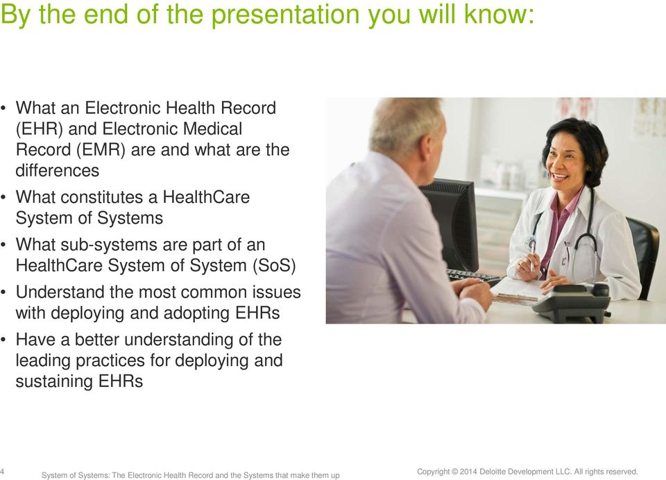 What sub-systems are part of an HealthCare System of System (SoS) Understand the most common issues with