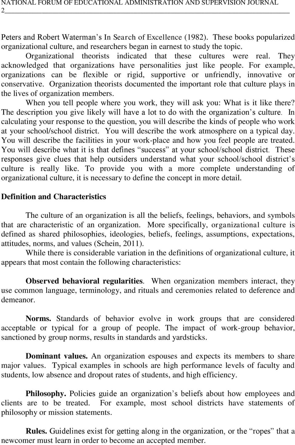 Understanding Organizational Culture A Key Leadership Asset Pdf