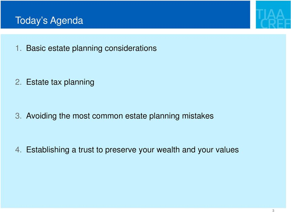 Estate tax planning 3.