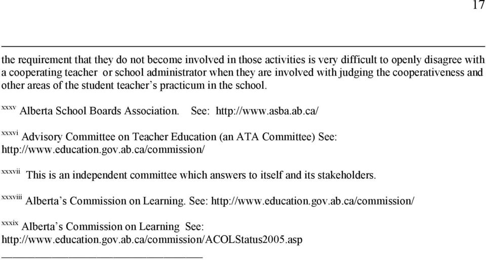 ca/ xxxvi Advisory Committee on Teacher Education (an ATA Committee) See: http://www.education.gov.ab.