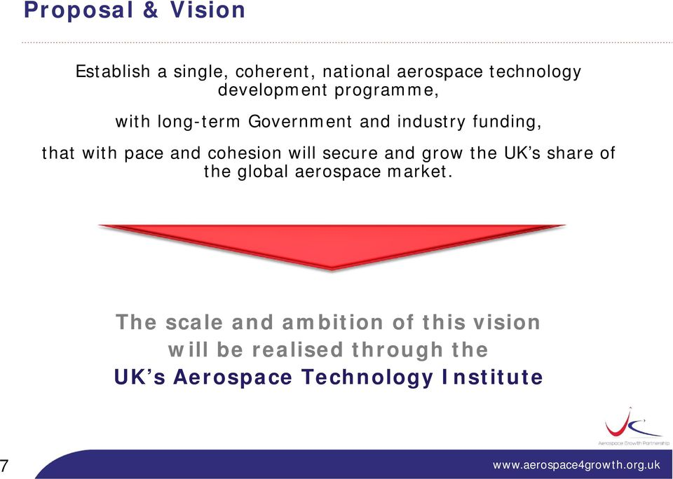 and cohesion will secure and grow the UK s share of the global aerospace market.