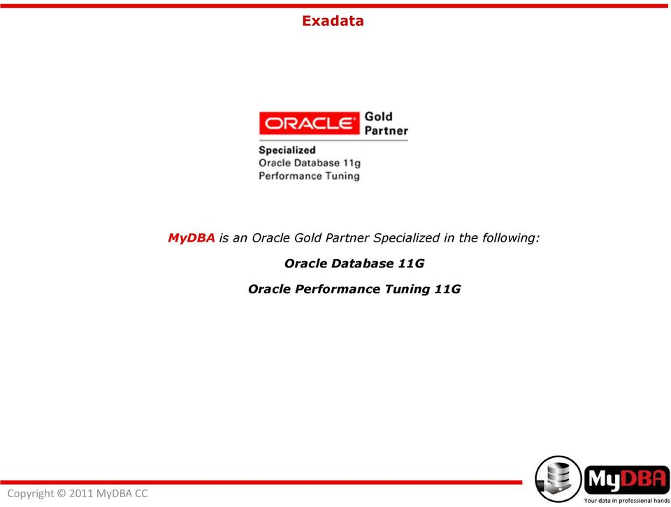 following: Oracle Database