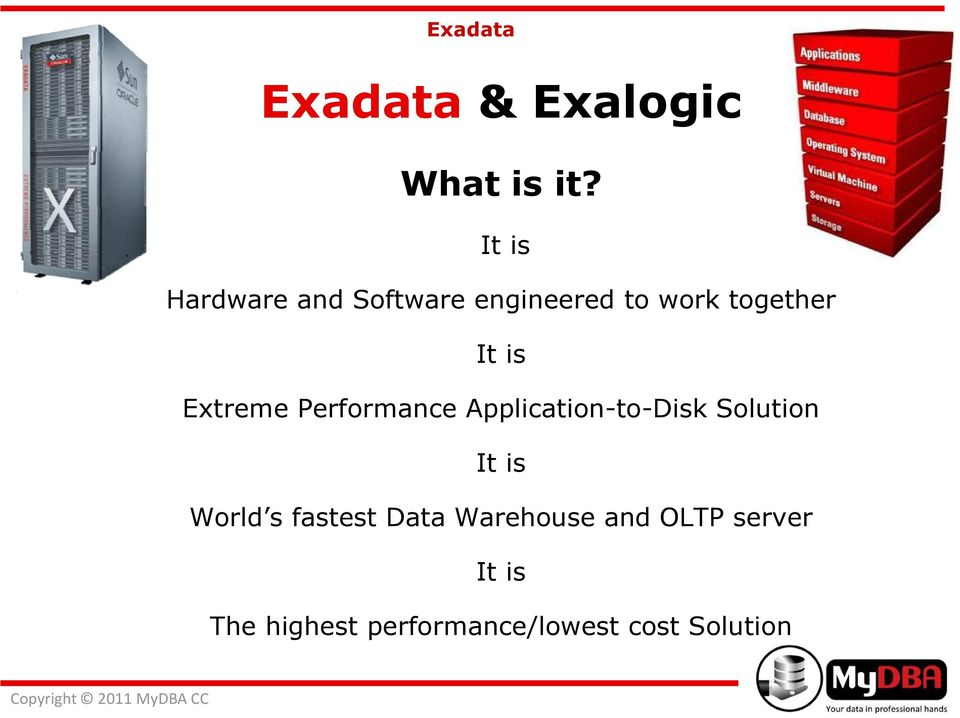Extreme Performance Application-to-Disk Solution It is World