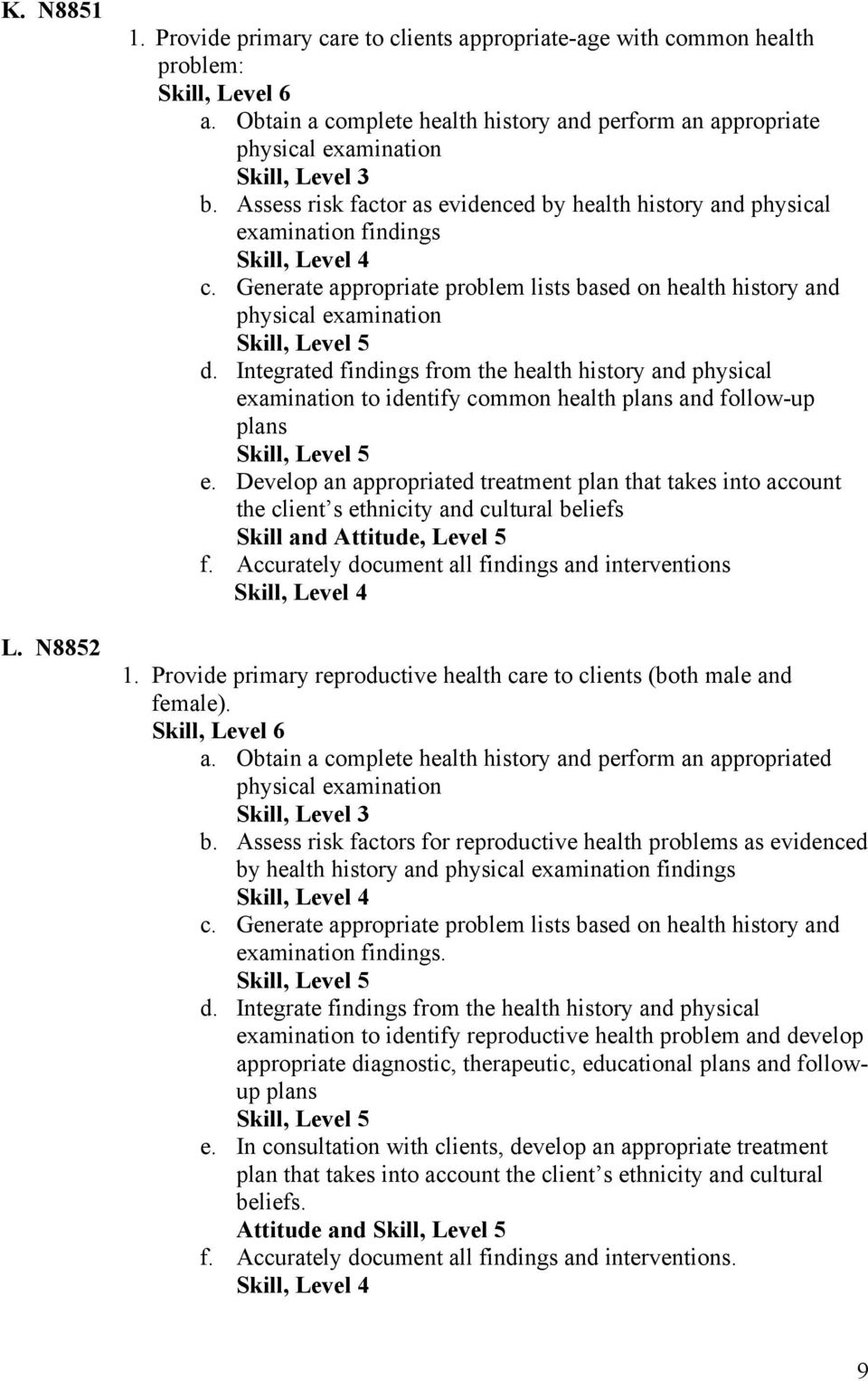 Integrated findings from the health history and physical examination to identify common health plans and follow-up plans e.