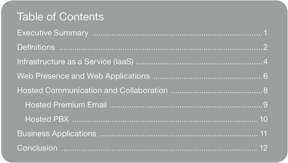 ..4 Web Presence and Web Applications.