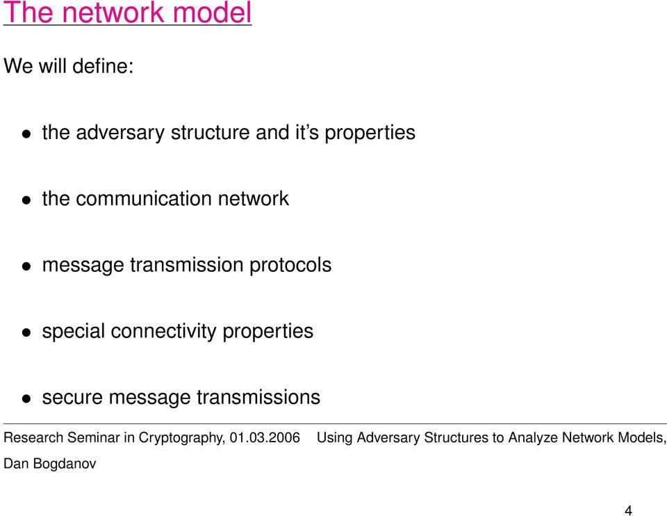 network message transmission protocols special