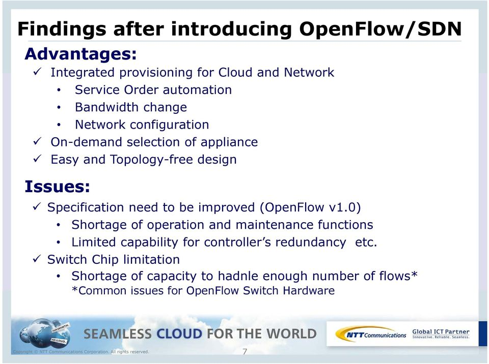 need to be improved (OpenFlow v1.