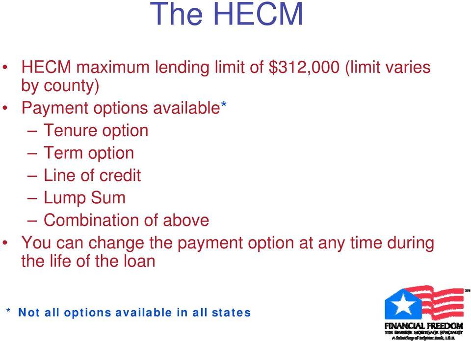 credit Lump Sum Combination of above You can change the payment option